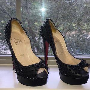 Christian Louboutin Lady Peep Spiked Heel